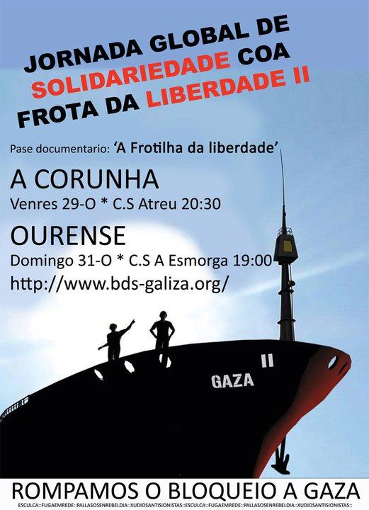 cartaz flotilha liberdade