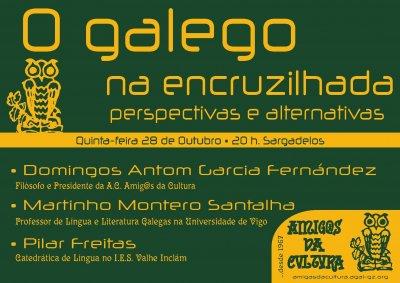 O galego na encruzilhada, perspectivas e alternativas