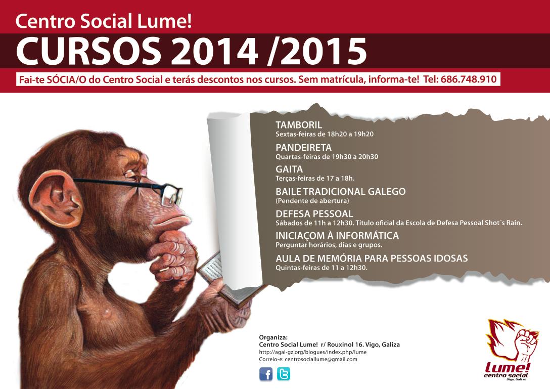 cursos 2014 centro social lume!