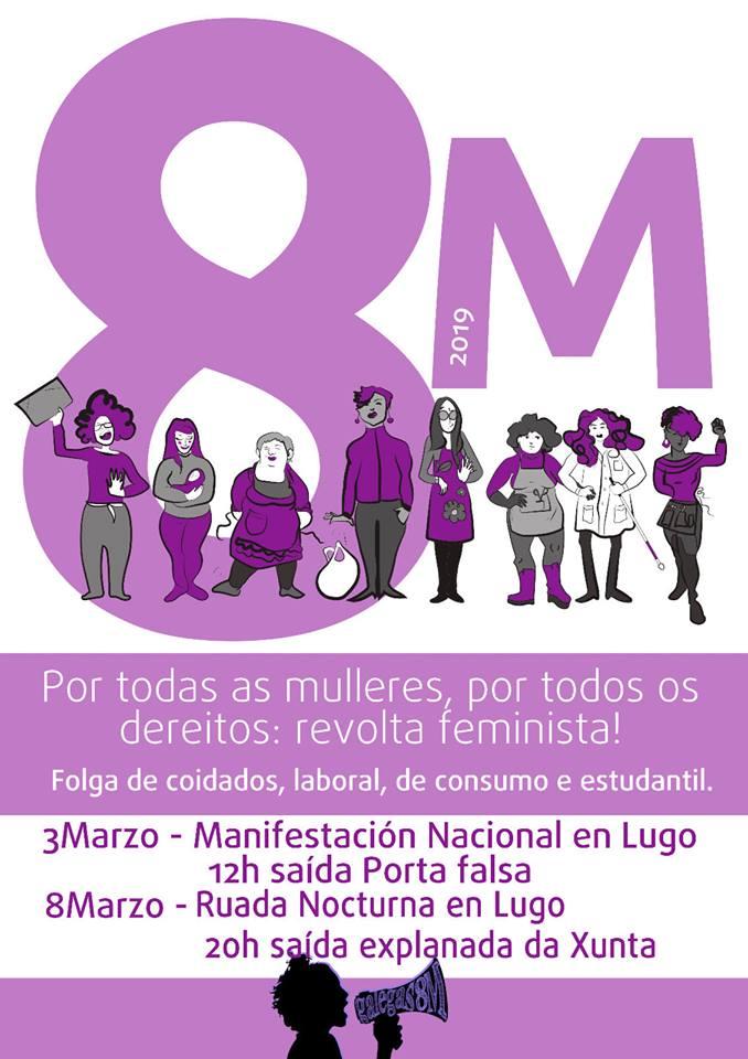 Do Mádia Leva! somamo-nos às convocatórias deste 8 de março que terám a  nossa cidade como centro coa manifestaçom nacional o domingo dia 3 de março. aa6e51b734665