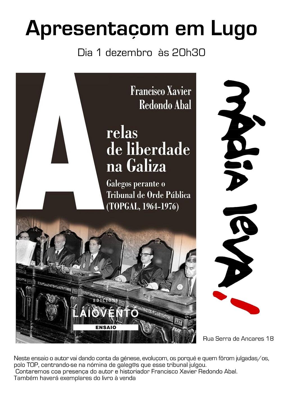 e36ec77392 O dia 1 de dezembro às 20h30 apresentamos o livro da editorial Laiovento