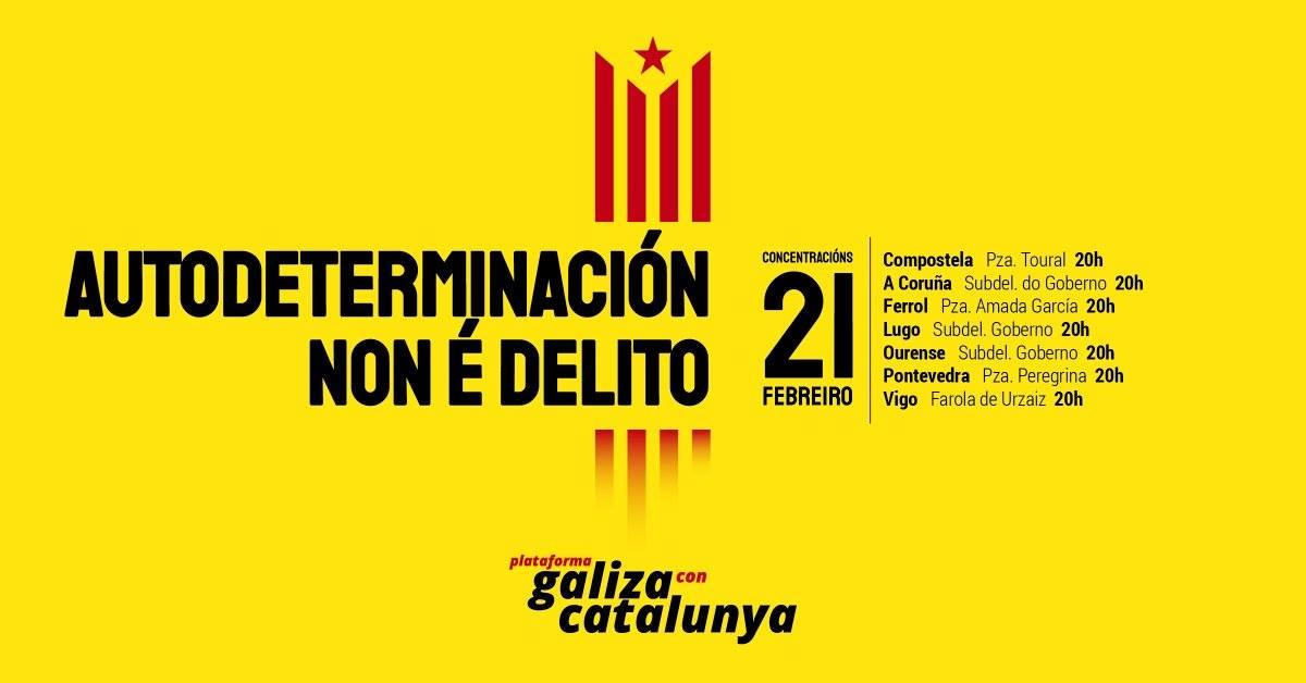 A plataforma Galiza Com Catalunya convoca para esta quinta-feira dia 21 de  fevereiro diversas concentraçons denunciando o juízo contra o  independentismo ... 5d1e69279dbd5