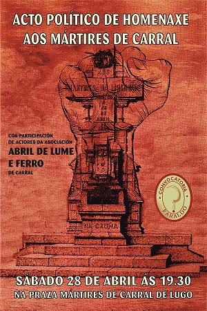 O vindeiro sábado 28 de abril novamente o soberanismo da cidade juntamo-nos  como Convocatória Faraldo para fazer a tradicional homenagem à Revoluçom  Galega ... 22bd81f90ecfb