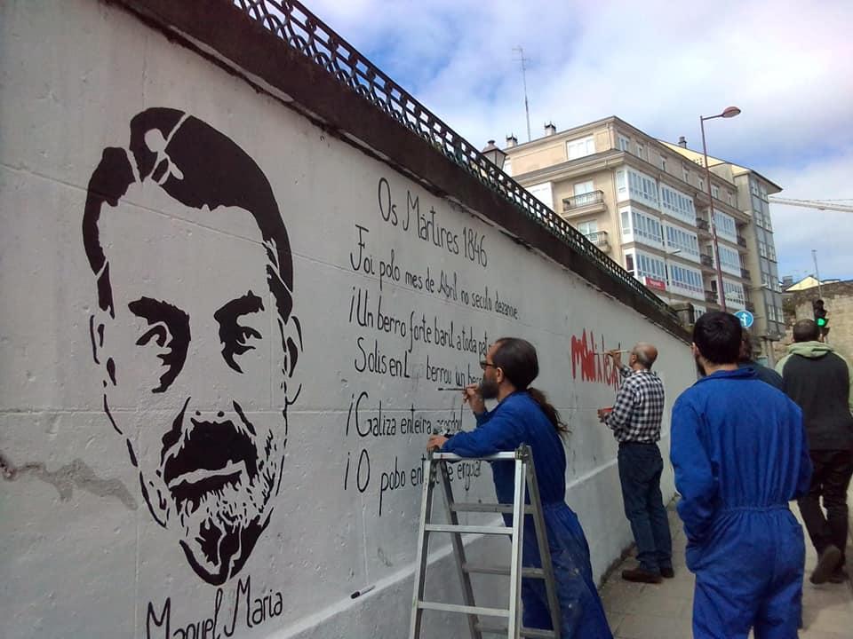 d09c40d6c O passado sábado finalmente rematamos o mural em homenagem aos Mártires de  Carral. A imagem de Manuel María que escreveu Abril de Lume e Ferro umha  obra ...