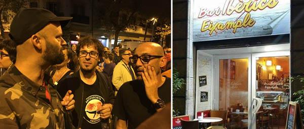 c7cd7fcd88c0f A les 20.00 h tanquen els col·legis i de l Escola Joan Miró hi surt algú i,  en mig de la multitud que aquí es congrega,  canta  els resultats.
